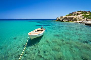 Blue lagoon of Vai beach on Crete, Greece