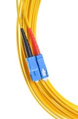 Singlemode fiber patchcord SC-PC, duplex
