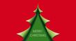 Weihnachtskarte Baum rot  quer