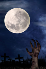 Zombie hand on graveyard 1