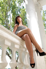 attractive young woman sitting