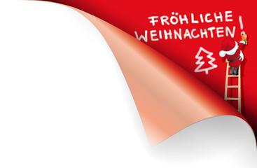 Weihnachtsmann Sprayer Fröhliche Weihnachten
