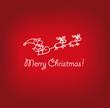 Weihnachtskarte Weihnachtsmann rentiere gekrakel