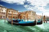 Fototapeta gondolas in Venice, Italy.