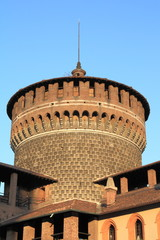 Tower of Sforza Castle, Milan, Italy