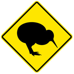 Danger sign - kiwi