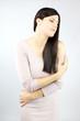 Beautiful elegant woman posing in studio