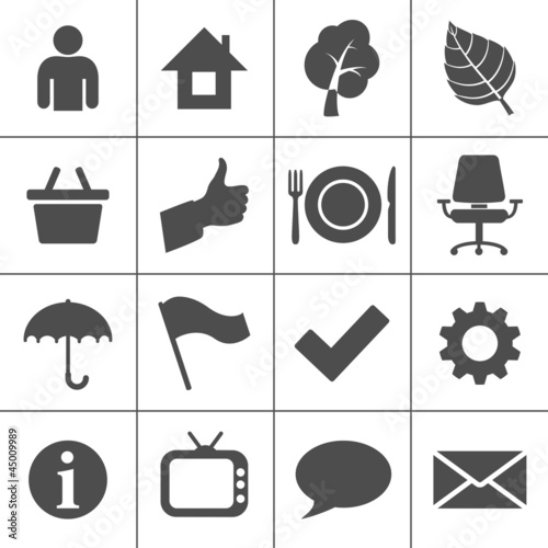 Web icons set - Simplus series