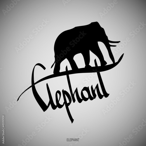 Elephant Calligraphic elements