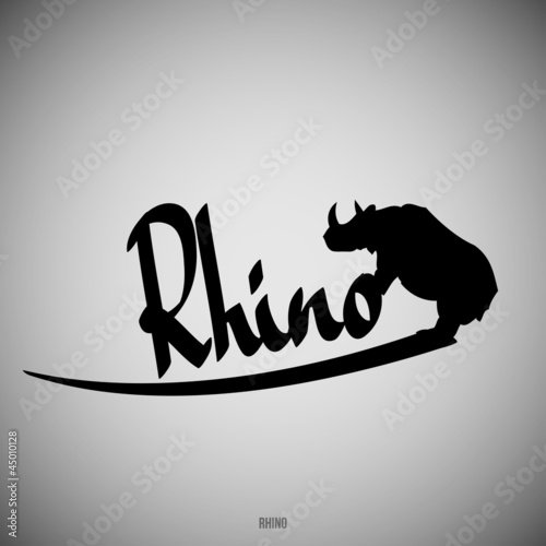 Rhino Calligraphic elements