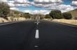 Asphalt road and white line marking