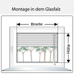 Montage in dem Glasfalz