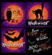 grungy halloween backgrounds (vector)