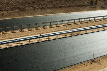 New asphalt highway road