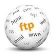Kugel, FTP, Server, Client, Browser, Netzwerk, Übertragung, www