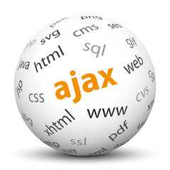 Kugel, AJAX, JavaScript, Webtechnologie, Technik, Internet, 3D