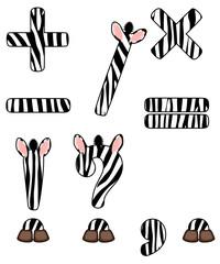 zebra set of signs