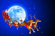 illustration of santa with his sleigh