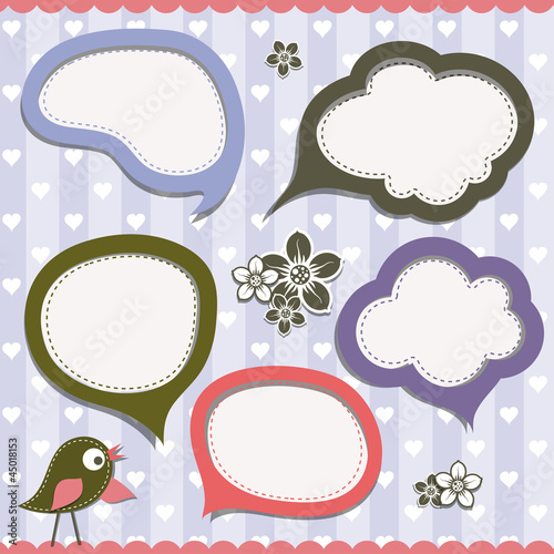 Template speak bubbles, vector
