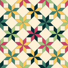 Quilt seamless pattern, vector