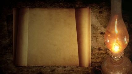 Old Scroll...(a lamp & dynamic light)
