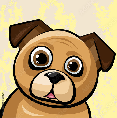 Funny brown pug-gog