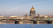 Classical view of Neva river in Saint-Petersburg, Russia