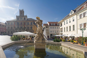 Weimar Markt Neptunbrunnen