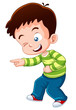 illustration of boy happy vector