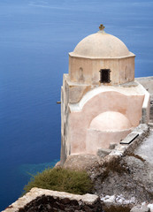 Small church on Santorini island, Greece.