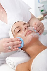 Beauty treatment at beautician