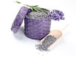 fresh and dry lavender (Lavendel)