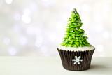 Fototapety Christmas tree cupcake