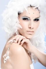 Glamour portrait of winter beauty