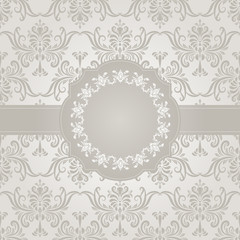 Vector Seamless Vintage Wallpaper Pattern with Frame for your Te