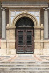 Renaissance door at St. Stephen Basilica