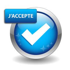 "Bouton Web ""J'ACCEPTE"" (continuer confirmer cliquer ici ok go)"