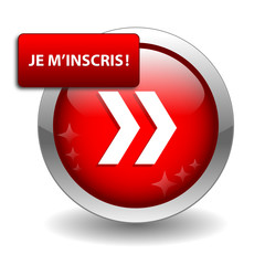 "Bouton Web ""JE M'INSCRIS"" (inscription abonnement s'inscrire)"