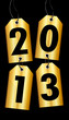 4 Golden Hangtags 2013 Black Background