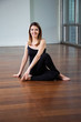 Happy Woman In Yoga Posture