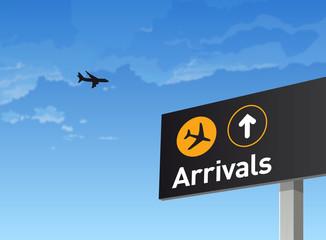 Aéroport, avion, transport, arrivée