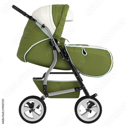 Isolated baby pram