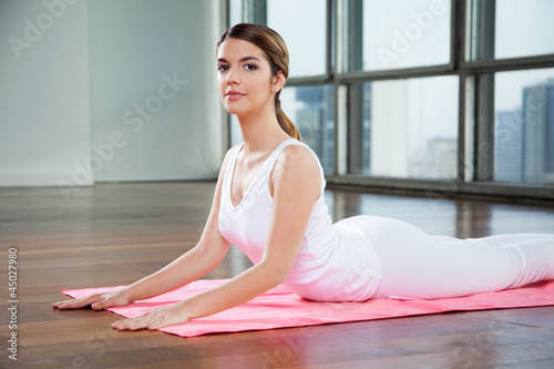 Pretty Woman Practicing Yoga