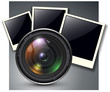 Lens with photo frames