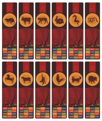 Chinese Zodiac Bookmarks Set