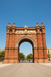 The Arc de Triomf in the Neo-Moorish style. Barcelona.