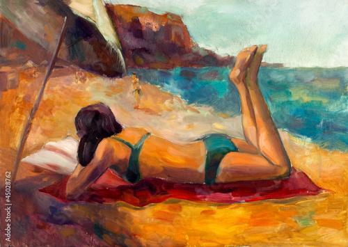 Woman on the beach - 45028762
