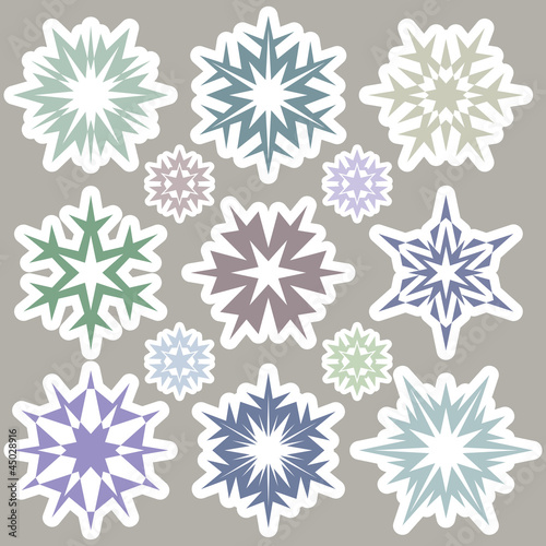 Set of snowflakes 2