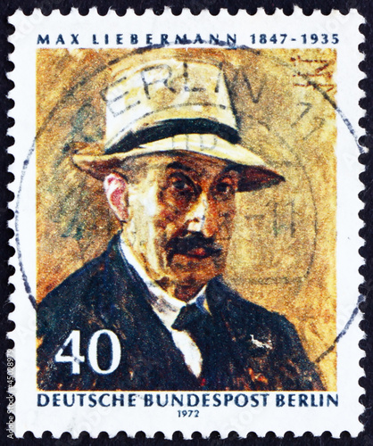 Postage stamp Germany 1972 Max Liebermann, Self-portrait