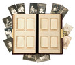 antique photo album pages with baby pictures